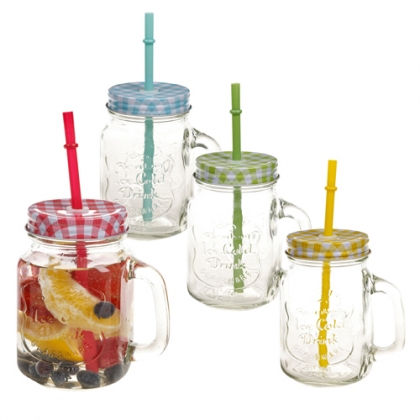 Jar Glasses with handle