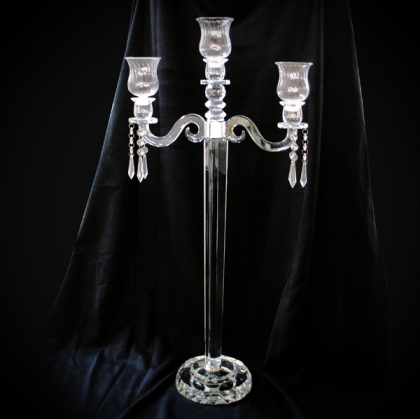 Candelabra Crystal - with 3 arms 80cm