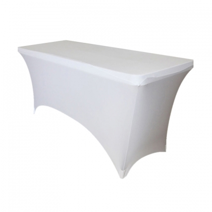 Buffet Table Spandex White